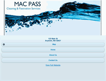 Tablet Preview of macpass.net